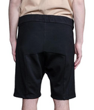 Paneled Suede Shorts