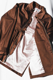 Chocolate Sateen Coach Jacket