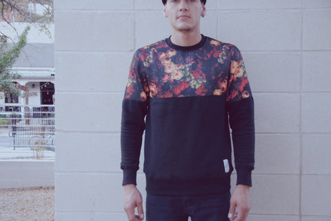 The Rolling Paper Fleece Printed Crewneck