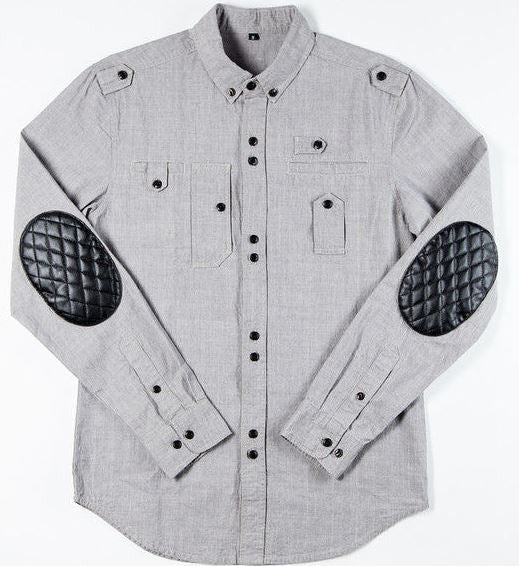 Veritas Apparel Chambray Button-Up Shirt