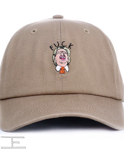 Fuck trump Dad Hat