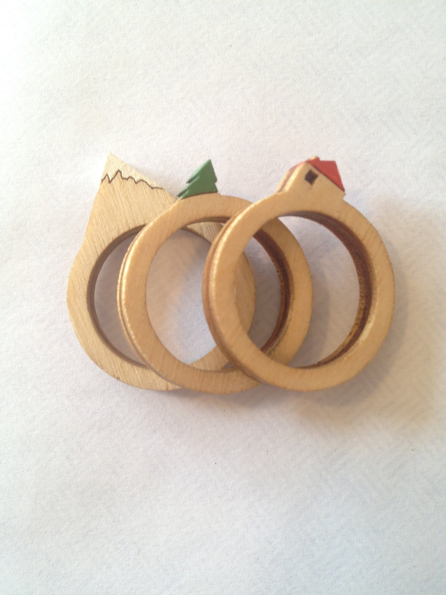 Clive Roody Wood Ring Set Of 3