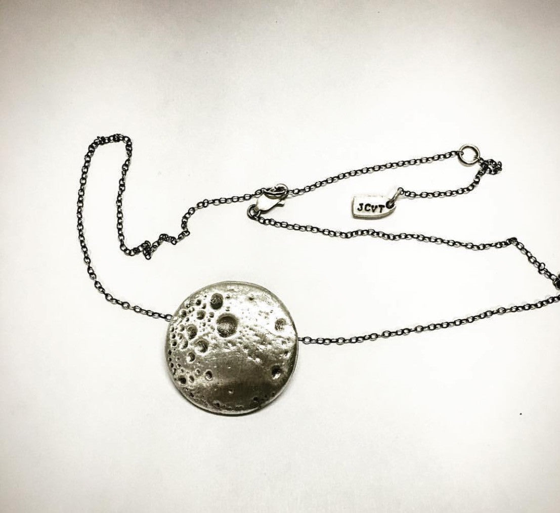 JCVT Moonstruck, Silver Necklace