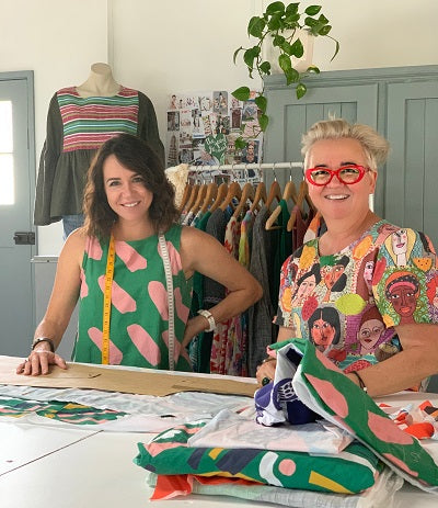 Bianca & Danita in The Good Garment studio