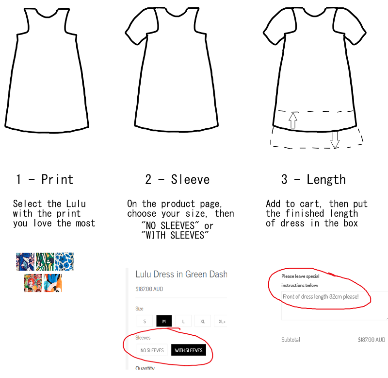 Customise your dress in 3 steps image