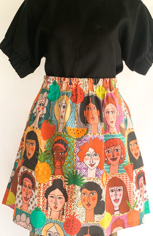 Eden skirt in Faces of Women - PRE-ORDER