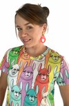 The Good Tee in Rainbow Llamas