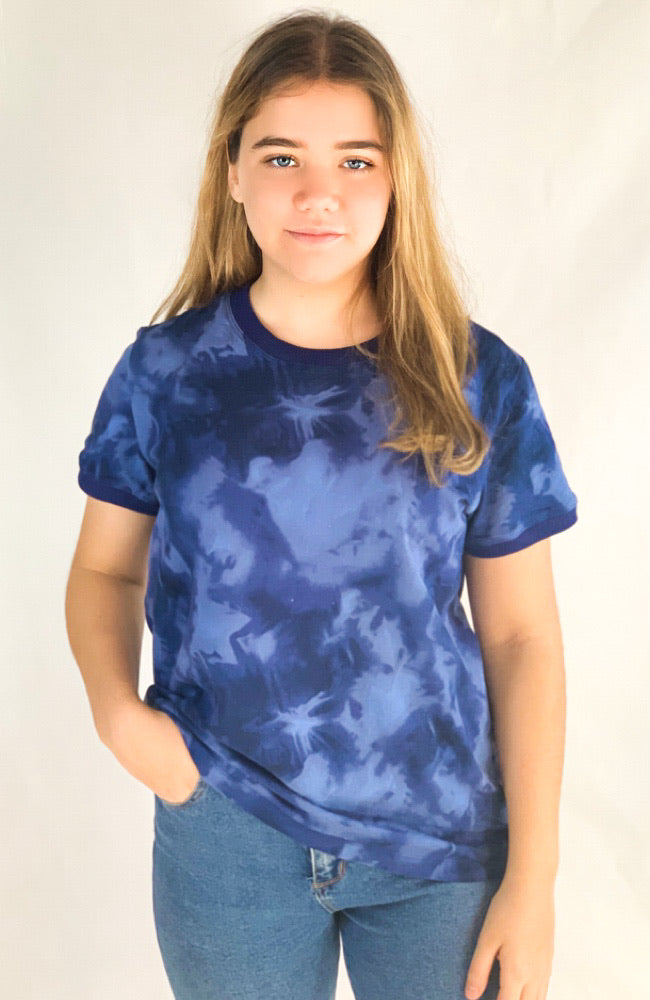 The Good Tee in Blue Smudge