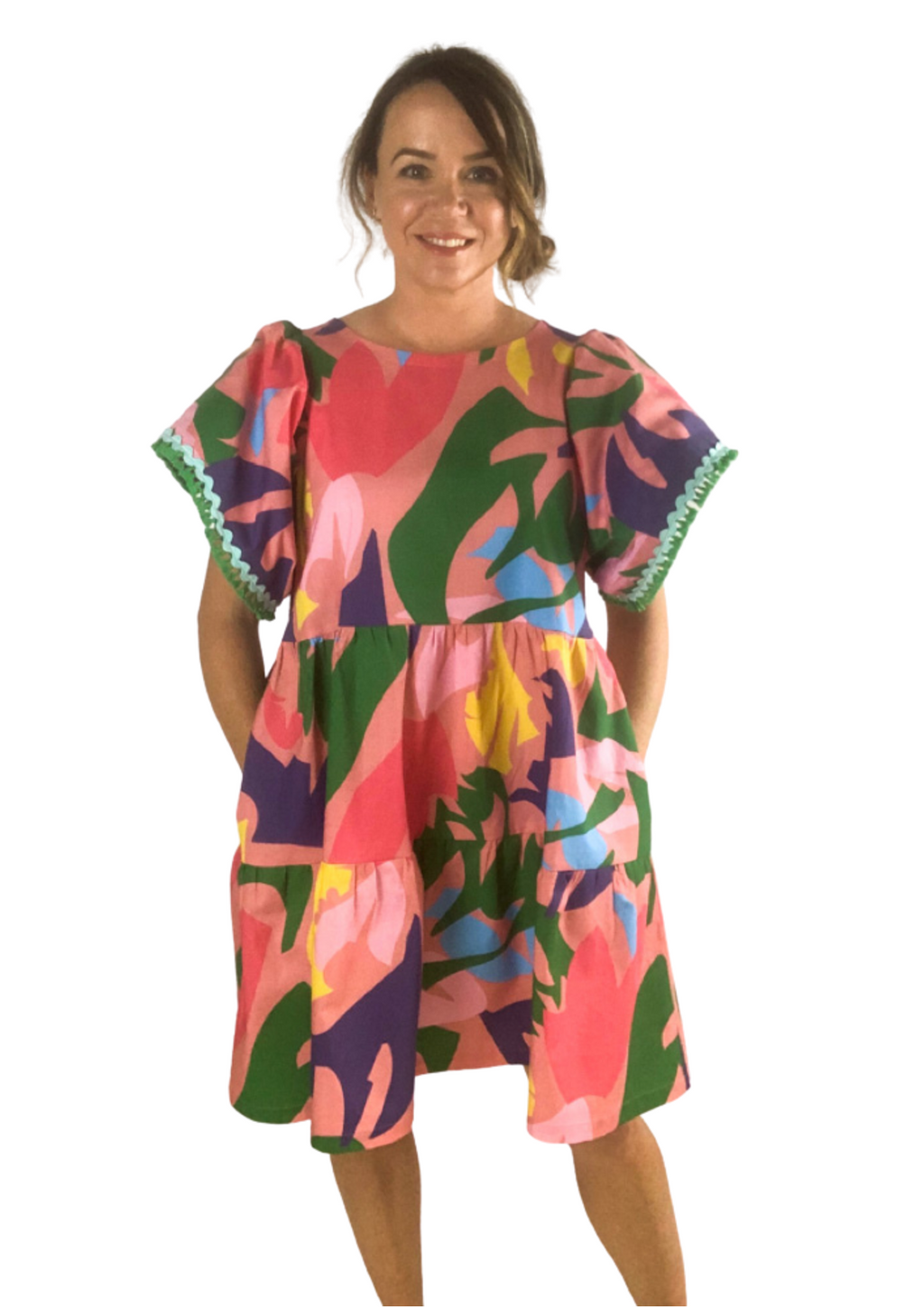 Polly Dress in Puzzle Pop