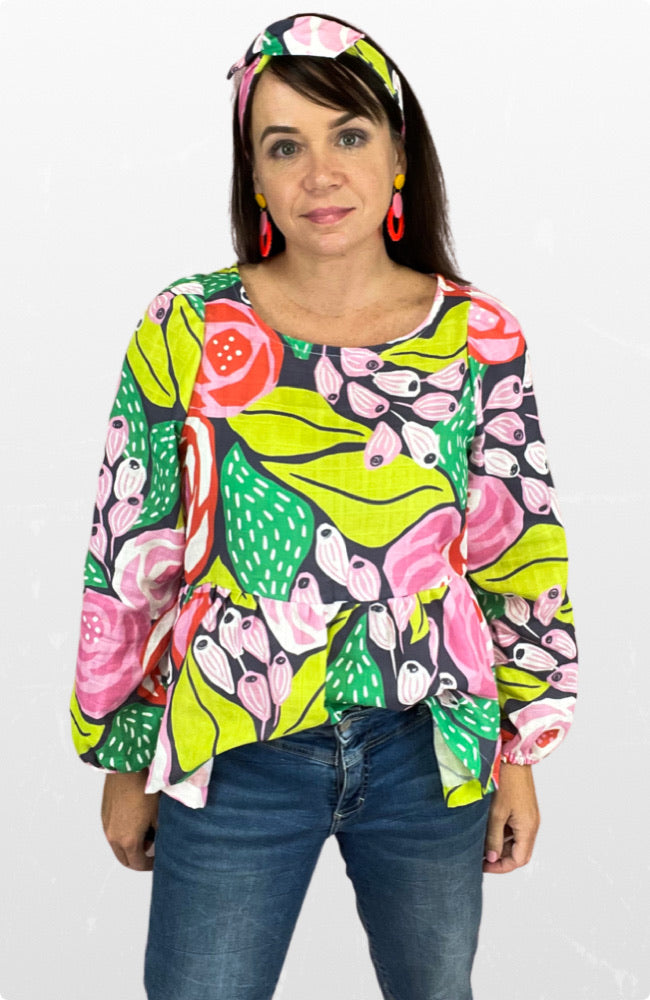 Maisy top in Papercut Rose