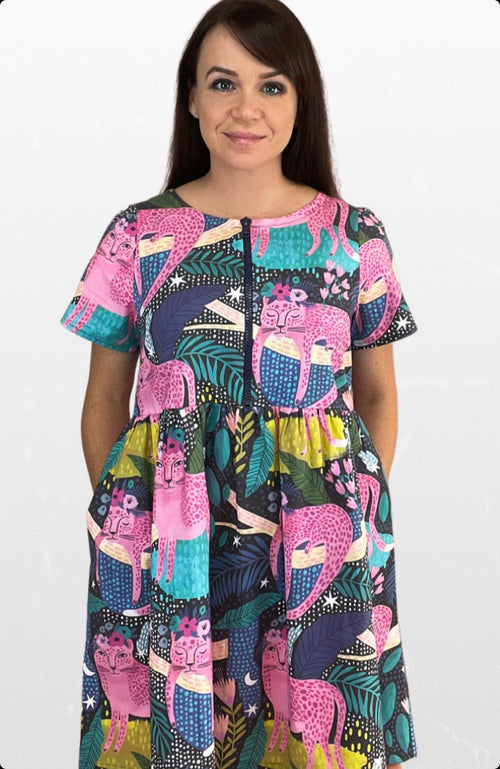 BFF dress in Pink Jungle Cats