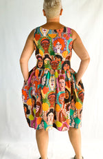 Tilly Dress in Faces of Women