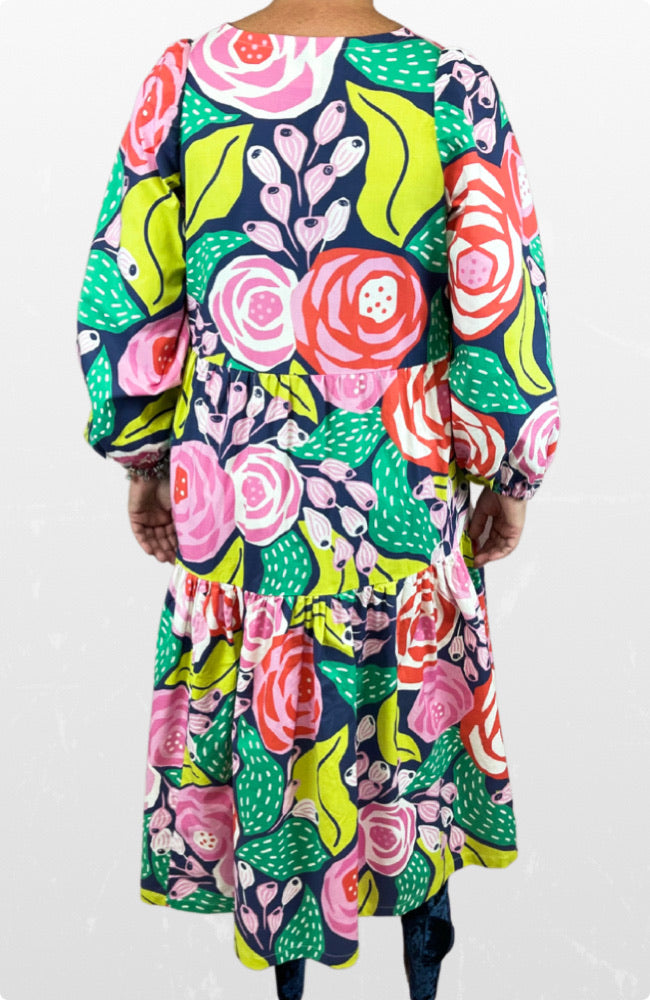 Gigi Maxi dress in Papercut Rose