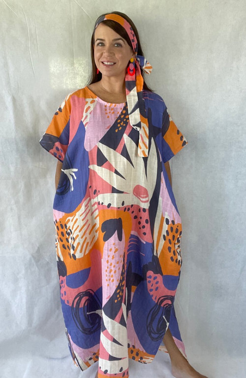Kaftan in Abstract Jungle