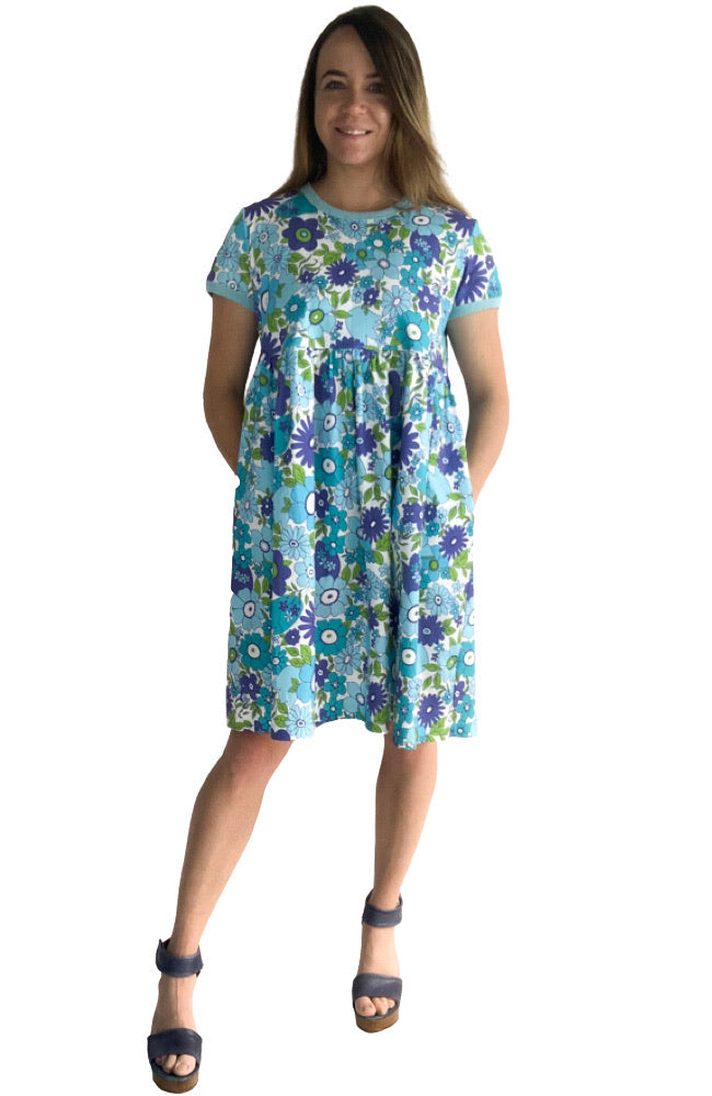 Izzy Dress in Vintage Floral Blue