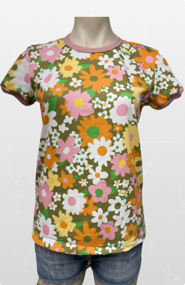 The Good Tee in Vintage Floral Olive