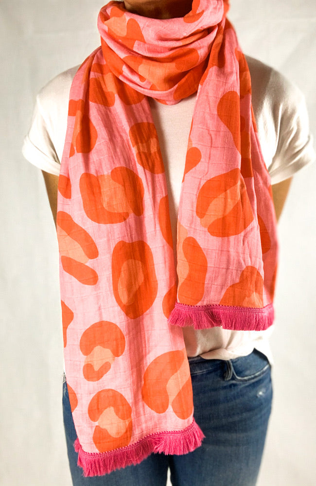 The Good Scarf in Pink Leopard
