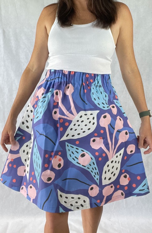 Eden skirt in Gumnut Blue