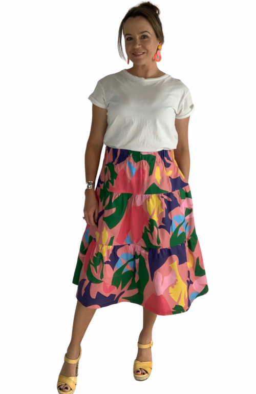 Sophie skirt in Puzzle Pop