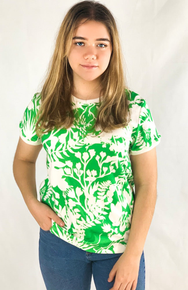 The Good Tee in Green Florantine
