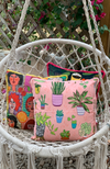 Cushion cover in Potted Plants Blush