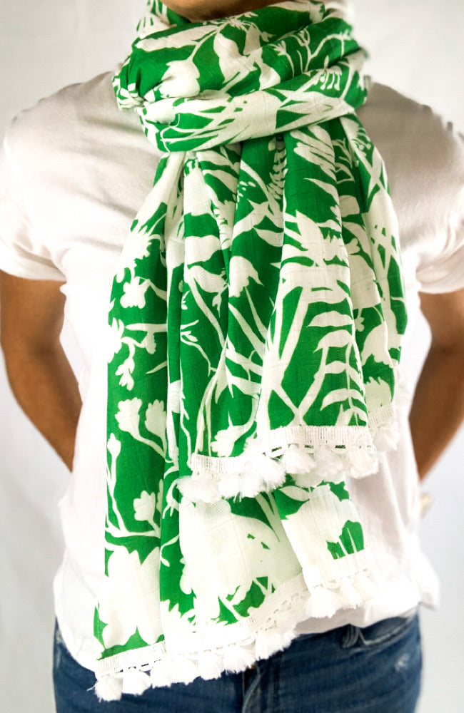 The Good Scarf in Green Florantine