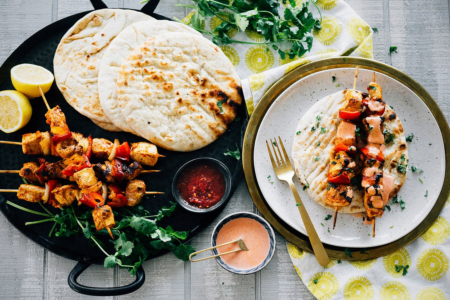 Preserved Lemon & Harissa Marinated Chicken Kebabs