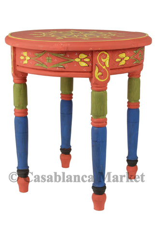 Rabat Hand Painted Side Table