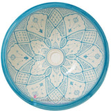 Classic Design Table Top/Undermount Sink, Turquoise and White