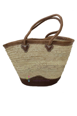 Market Leather Basket