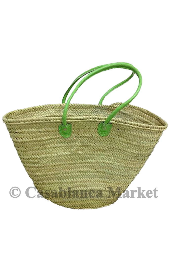 Market Basket with Green Straps