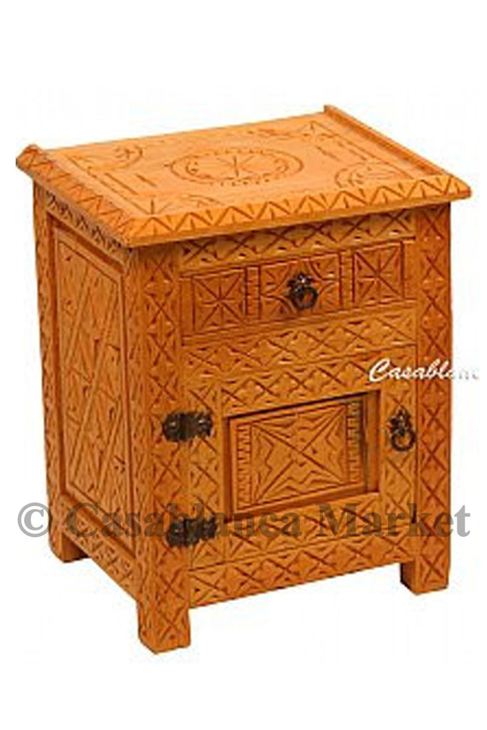 Berber Design Cedar Wood Nightstand