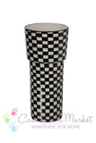 Black and White Art Deco Vase