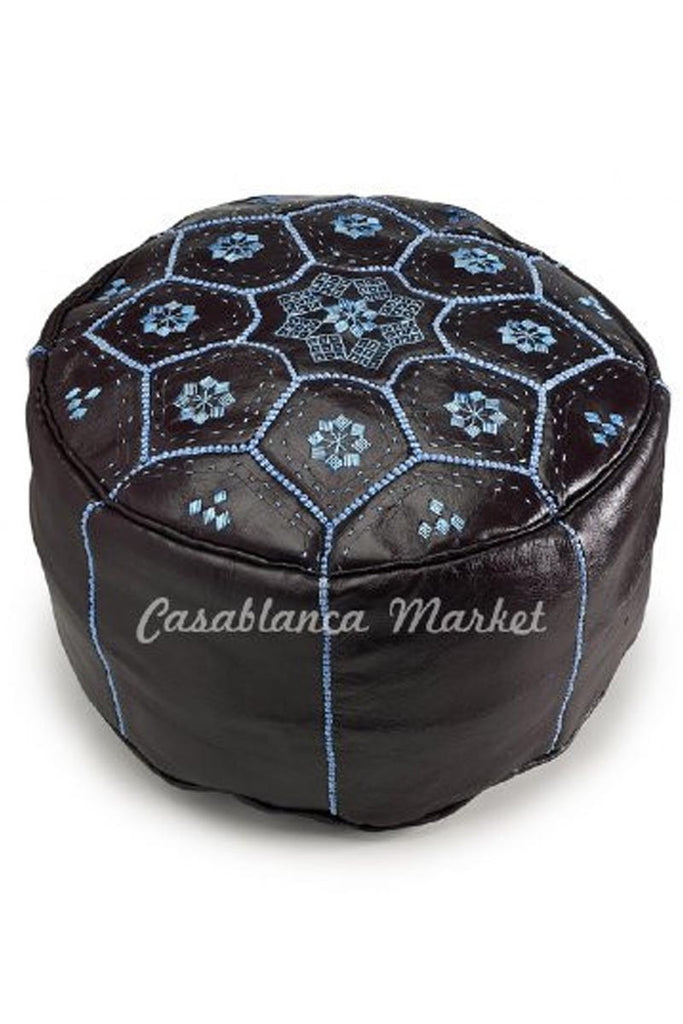 Star Leather Pouf