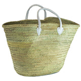 French/Moroccan Market Basket with White Straps