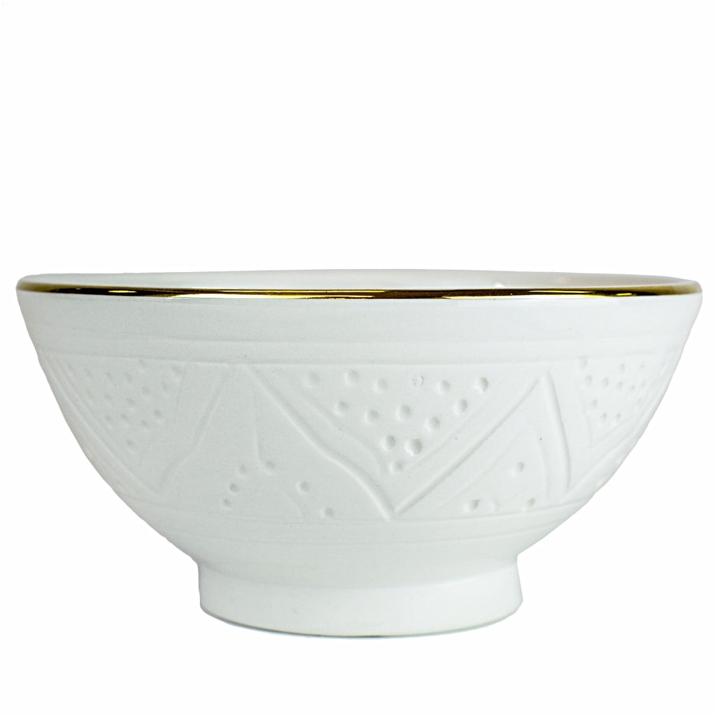 Cereal/Salad Bowl, White Gold