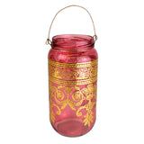 Bohemian Lantern/Candle Holder, Rose