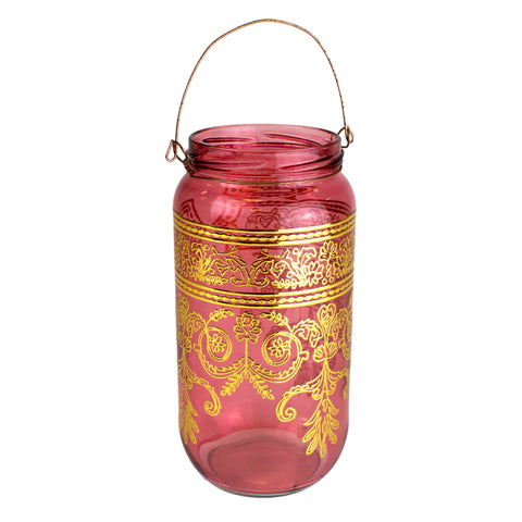 Bohemian Moroccan Lantern/Candle Holder, Rose