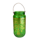 Bohemian Lantern/Candle Holder, Light Green
