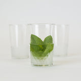 Moroccan Minimalist Chic Tea  Glasses, Sandy on Clear (Set of Six)