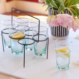 Beldi Moroccan Water Glasses, Clear (Set of 6)