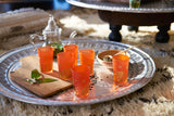 Luxury Ifrane Tea Glasses, Gold in Orange (Set of 6)