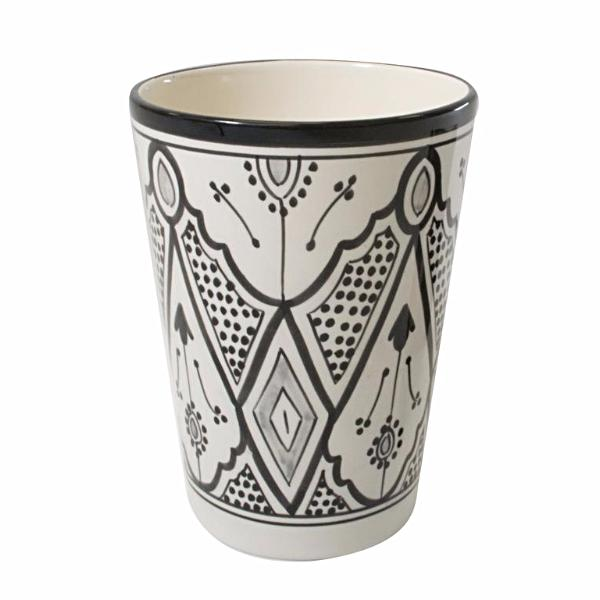 Classic Design Vase/Utensil/Wine Holder, Black and White