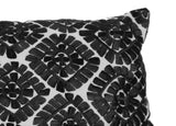 Moroccan Embroidered Pillow, Black