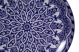 Fez Serving Platter, Blue and White