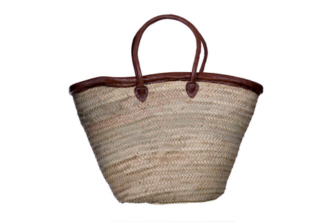 Market Basket with Brown Straps