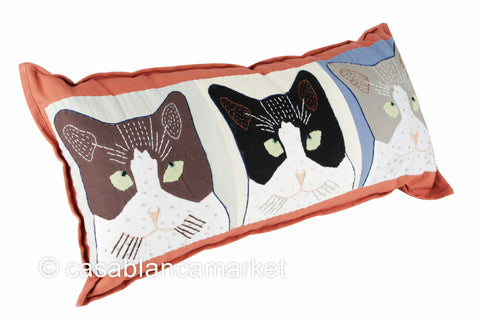 Casablanca Cat Pillow (9 lives)