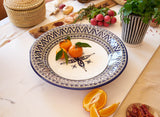Berber Design Serving Platter, Blue & White