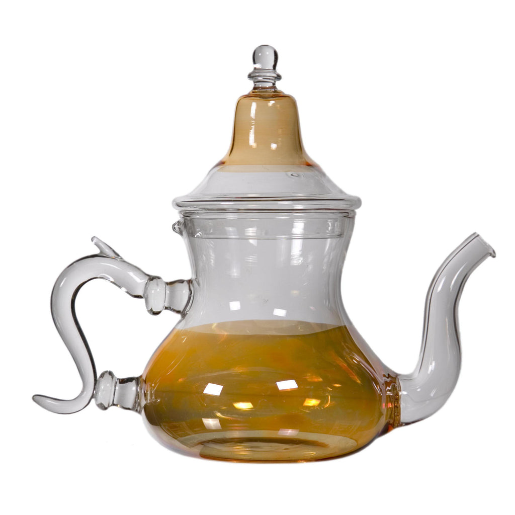 Orange Glass Teapot