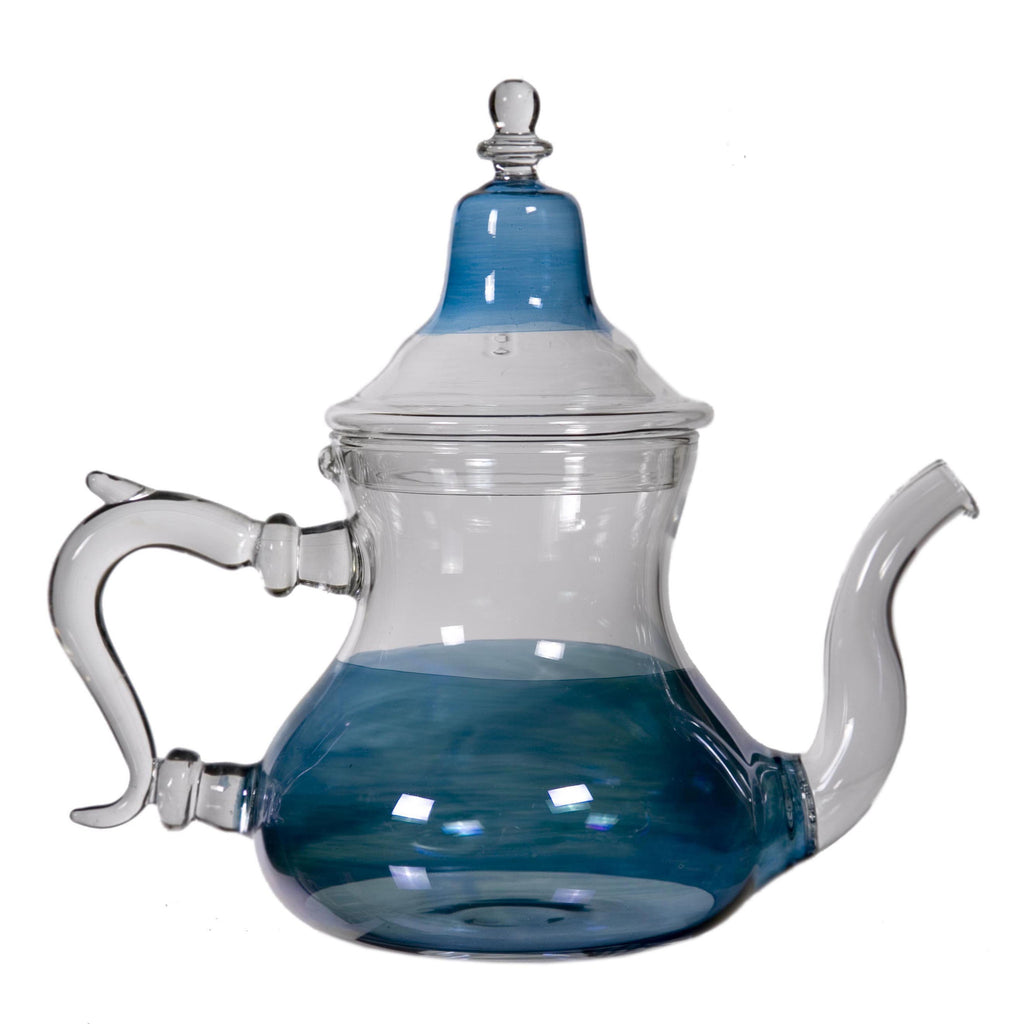 Blue Glass Teapot